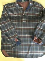 Vtg Polo Ralph Lauren Striped Plaid Long Sleeve Rugby Shirt 80s w Patch Elbows