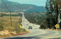 Autos 1950s YUCAIPA CALIFORNIA Sand Canyon Road Blvd Columbia postcard 3488