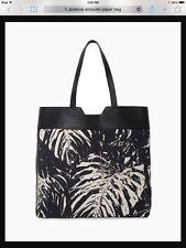 NEW PROENZA SCHOULER PAPER BAG PRINTED CANVAS TOTE SHOPPER BLACK BAG