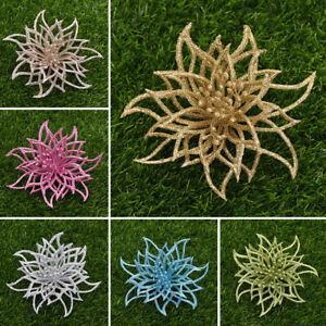 1PC Christmas Tree Artificial Hollow Flowers Festival Decoration Pendant Xmas