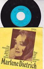 MARLENE DIETRICH *auf AMIGA Records* 1980 *Die Antwort weiß ganz allein der Wind