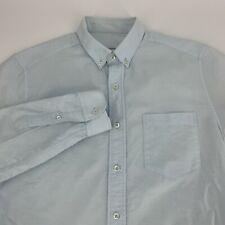 Ami Alexandre Mattiussi Mens Long Sleeve Woven Dress Shirt SIze 39 Blue Button
