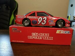 Limited Edition 1:24 Scale Nascar Die Cast Coin Bank with lock Budweiser #93