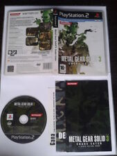 PS2 METAL GEAR SOLID 3 COMPLETO CIB PLAYSTATION 2 PAL ESPAÑA EN CASTELLANO