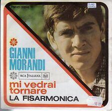 disco 45 GIRI Gianni MORANDI LA FIARMONICA - MI VEDRAI TORNARE