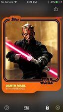 Topps Star Wars Digital Card Trader Orange Halloween Maul Variant Insert Award
