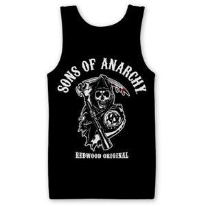 Official Sons Of Anarchy (SOA)- Redwood Original Men's Tank Top/Vest S-XXL Sizes