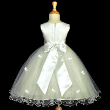 BUTTERFLY COLORS WEDDING COMMUNION FLOWER GIRL DRESS PAGEANT 9-12M 2 4 5 6 8 10