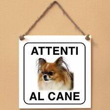 Mi-Ki 2 Attenti al cane Targa cane cartello ceramic tiles