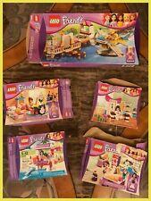 5 LEGO FRIENDS Fashion Lifeguard Karate Bedroom Heartlake Emma Mia Empty Boxes