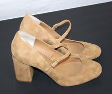 b6d845c5efb Calvin Klein Women s Cassian Tan Suede Pump Closed Toe Shoes 34E2548 Brand  New