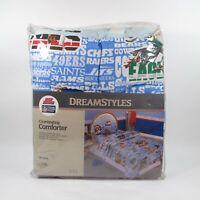 Vintage NFL Football Teams Twin Size Bed Comforter Blanket | DreamStyles