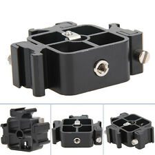 3 in 1 BLACK Tri-Hot Shoe Mount Adapter for Flash Holder Bracket Light Stand