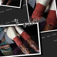 Mädchen Damen Strickwolle Overknee Winter Strümpfe Stocking Legwärmer Beinstulpe