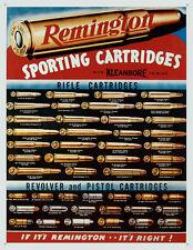 Remington Sporting Cartridges Tin Sign - 12.5x16
