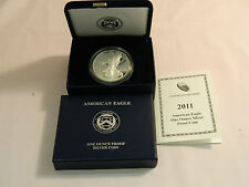 2011-W Proof Silver Eagle in Original Packaging With COA AND CERTIFICATE #105