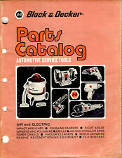 BLACK & DECKER AUTOMOTIVE SERVICE TOOLS PARTS CATALOG DATED JANUARY 1974