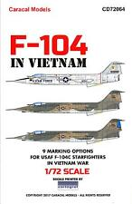 Caracal Decals 1/72 LOCKHEED F-104C STARFIGHTER IN VIETNAM