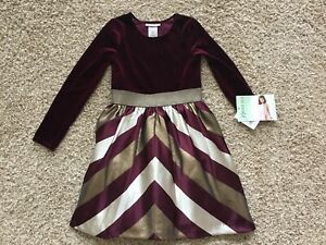 """Bonnie Jean Velvet Dress Girls Size 10 *New with tags"""""""