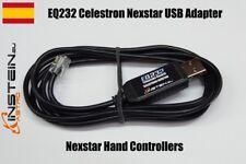 Celestron Nexstar RJ9 USB PC Adapter interface Cable EQ232 Nexstar