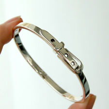 #BR114 Bracelet Designer  Boucle de ceinture Jonc  Argent Massif 925