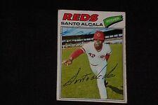SANTO ALCALA 1977 TOPPS SIGNED AUTOGRAPHED CARD #636 CINCINNATI REDS