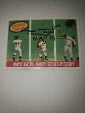 Willie Mays 2001 Topps Archives Signed Autographed Hof 79 Gaints Say Hey Holo