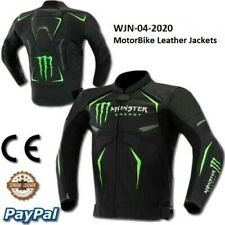 Monster Motorbike Motorcycle Rider Leather Jacket Racing WJN-04-2020 (US 38-48)