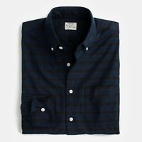 New J Crew American Cotton Oxford Slim Shirt Button Down Contrast Plaid Navy NWT