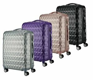 """ABS Hard Shell Cabin Suitcase Case 4 Wheels Luggage Lightweight 20"""" 24"""" 28"""" NEW"""