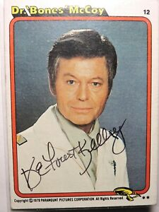 1979 Paranount Pictures Star Trek The Motion Picture Dr. McCoy #12 signed