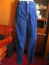 30x30 sz 12 avg True Vtg 80s HIGH WAIST RAW DENIM FORENZA TAPERED MOM JEANS