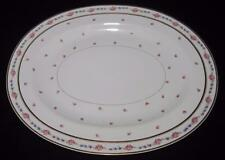 "Bernardaud Limoges THE FONTENAY Pink Roses Blue Flowers 18"" Oval Serving Platter"