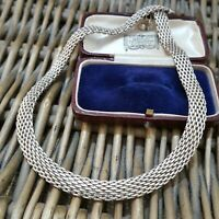 925 STERLING SILVER NECKLACE/COLLAR, MESH NECKLACE, 16 INCH to 18 INCH, 40 GR