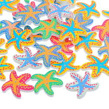 50pcs Wooden Buttons Starfish Random Mixed Stitching Craft Sewing Scrapbooking