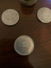Lot of 3 coins 1980 -1985 Mexican 5 Peso Pesos Coin QUETZALCOATL Circulated