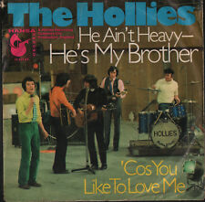 THE HOLLIES- rare German 45 with picture sleeve HE AIN'T HEAVY HE'S MY BROTHER