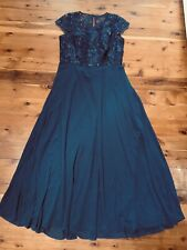 CITY CHIC NAVY SEQUINS BODICE LINED FLOWING DRESS  SIZE: XS BNWOT