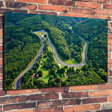 "Nürburgring Race Track Printed Box Canvas Picture A1.30""x20"" 30mm Deep Wall Art."