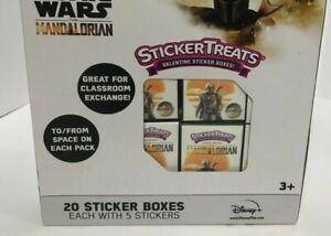 The Mandalorian Baby Yoda The Child 20 Count Sticker Treats Valentine Disney