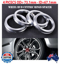 Top Quality! Wheel Hub Centric Rings Spacer OD=73.1mm ID=67.1mm Alloy Set of 4