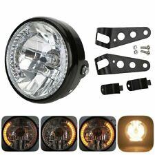 "Universal 6.5"" Motorcycle LED Headlight Lamp Led Turn Signal light Lamp+Bracket"