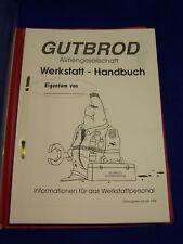 Original Werkstatt Handbuch 1996 Gutbrod - Rarität