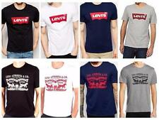 Levi's Men graphic Logo crew neck T-Shirt S M L XL- Iconic Levis red tab removed