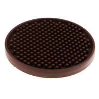 Non-slip Silicone Coasters Drink Coasters Protection Table Decoration Brown