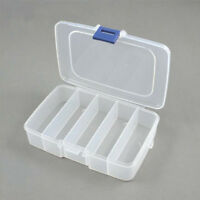 New Five Fixed Grids Cells Plastic Storage Box For Nail Art Tips Gems Glitters