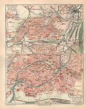 Straßburg und Umgebung Strasbourg Elsass Europarat Eurokorps  Stadtplan 1909