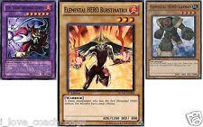Evil Hero Infernal Sniper DP06 Fusion set: Clayman + Burstinatrix YUGIOH