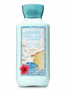 Bath & Body Works Havana Tropical Vanilla and Cherimoya Body Lotion 8 oz New