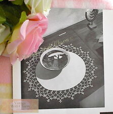 Vintage Doily Tatting Pattern With Linen Centre. Finished Size 15 Ins. in Diam.